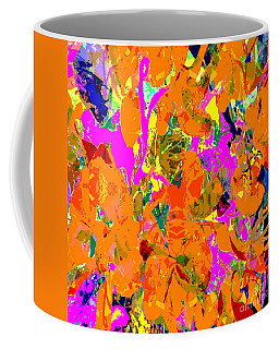Coffee Mug featuring the digital art Orange Abstract by Barbara Moignard