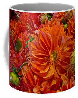 Orange Bouquet Coffee Mug by Arlene Carmel