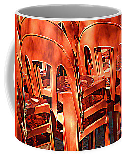 Orange Chairs Coffee Mug