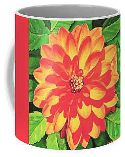 Orange Dahlia Coffee Mug