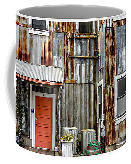 Coffee Mug featuring the photograph Orange Door by Bill Gallagher