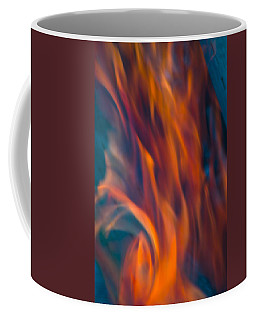 Orange Fire Coffee Mug by Yulia Kazansky