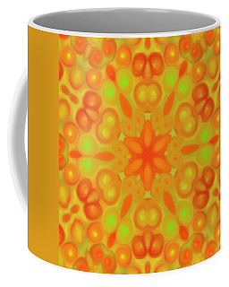 Orange Flower Mandela Coffee Mug