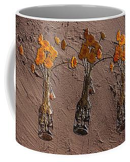Orange Flowers Embedded In Adobe Coffee Mug