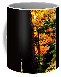 Coffee Mug featuring the photograph Orange Foliage by Denyse Duhaime