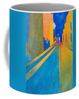 Orange France At Night Coffee Mug