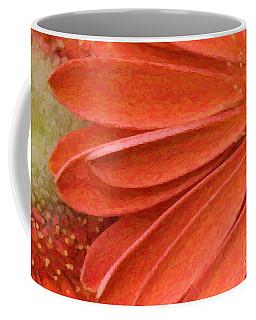 Orange Gerber Daisy Painting Coffee Mug