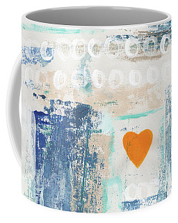 Orange Heart- Abstract Painting Coffee Mug