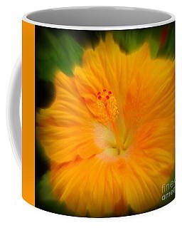 Orange Hibiscus Flower Coffee Mug by Clare Bevan