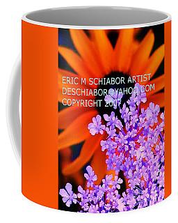 Orange Lavender Flower Coffee Mug