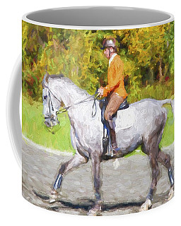 Orange On Gray Coffee Mug