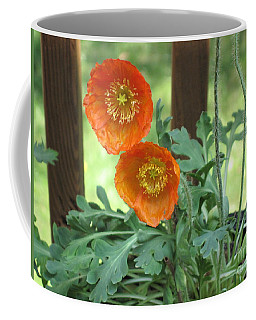 Orange Poppies Coffee Mug by HEVi FineArt