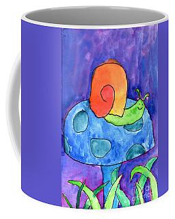 Orange Snail Coffee Mug