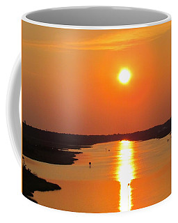 Coffee Mug featuring the photograph Orange Sunset by Cynthia Guinn
