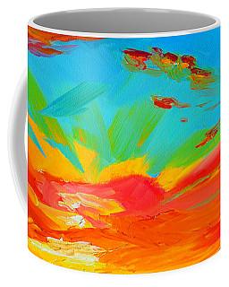 Orange Sunset Landscape Coffee Mug