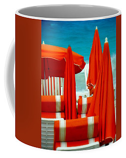 Orange Umbrellas Coffee Mug