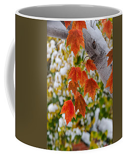 Orange White And Green Coffee Mug
