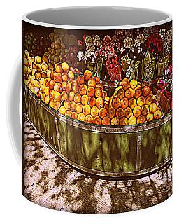 Oranges And Flowers Coffee Mug by Miriam Danar