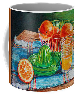Coffee Mug featuring the drawing Oranges by Joy Nichols