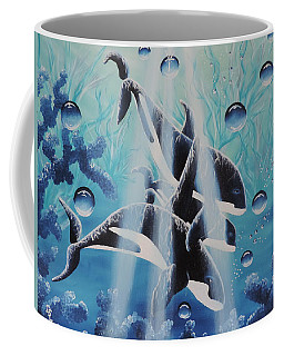 Coffee Mug featuring the painting Orcan Family by Dianna Lewis