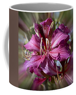 Coffee Mug featuring the photograph Orchid Blur by Penny Lisowski