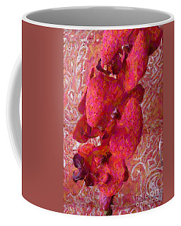 Orchid On Fabric Coffee Mug