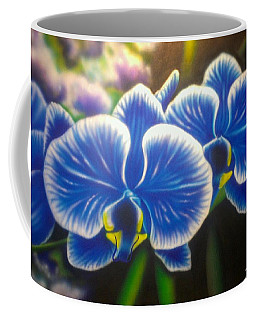 Orchid-strated Blues Coffee Mug