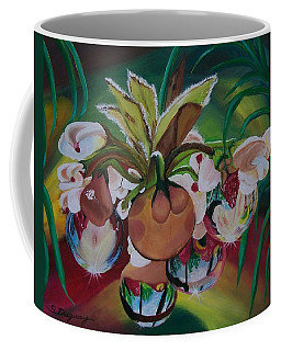 Orchids In Raindrop Reflections Coffee Mug