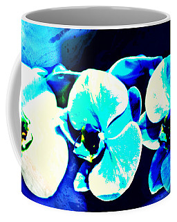 Coffee Mug featuring the mixed media Orchids Of Ranetta by Michelle Dallocchio