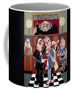 Coffee Mug featuring the painting Order In The Court by Anthony Falbo