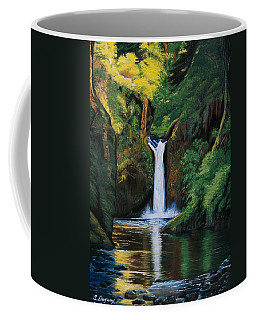 Oregon's Punchbowl Waterfalls Coffee Mug