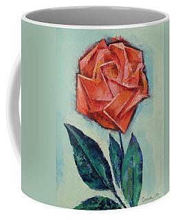Origami Rose Coffee Mug
