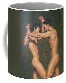 Original Gay Man Art Male Nude The Red Apple#16-2-6-01 Coffee Mug