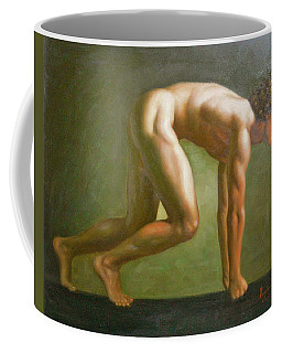 Original Oil Painting Man Body Man  Art -male Nude  By Hongtao#16-1-31-10 Coffee Mug