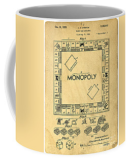 Original Patent For Monopoly Board Game Coffee Mug