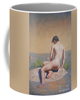 Original  Young Man Body Oil Painting  Gay Art Male Nude#16-2-3-04 Coffee Mug