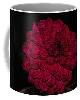 Ornate Red Dahlia Coffee Mug by Jeanette C Landstrom