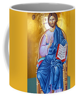 Orthodox Icon Of Jesus In Blue Coffee Mug