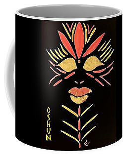 Coffee Mug featuring the painting Oshun by Cleaster Cotton