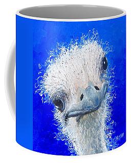 Ostrich Painting 'waldo' By Jan Matson Coffee Mug