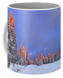 Other Side Of A Winter Sunset Coffee Mug