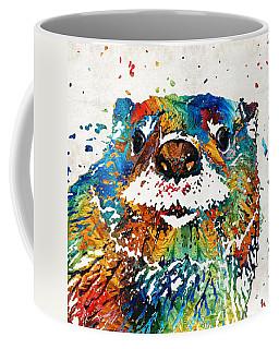 Otter Art - Ottertude - By Sharon Cummings Coffee Mug