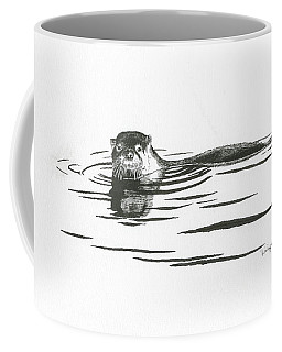 Otter In The Water Coffee Mug