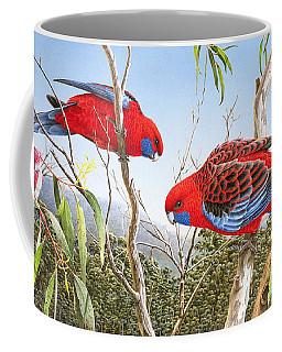 Our Beautiful Home - Crimson Rosellas Coffee Mug