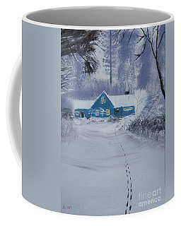 Our Little Cabin In The Snow Coffee Mug