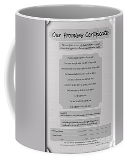 Our Promises Certificate Coffee Mug