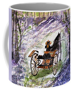 Out In The Meadowbrook Cart Coffee Mug