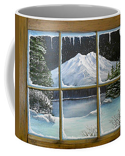 Out My Window-bright Winter's Night Coffee Mug
