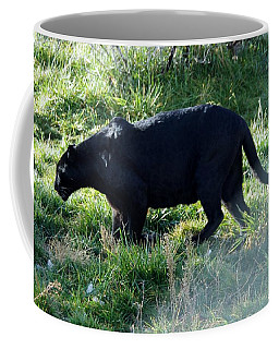 Out Of Africa  Black Panther Coffee Mug