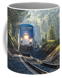 Coffee Mug featuring the photograph Out Of The Mist by Jim Thompson